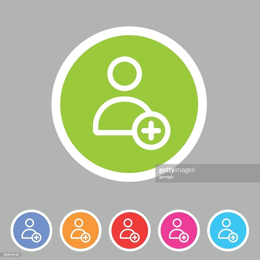 add user avatar icon flat web sign symbol logo label
