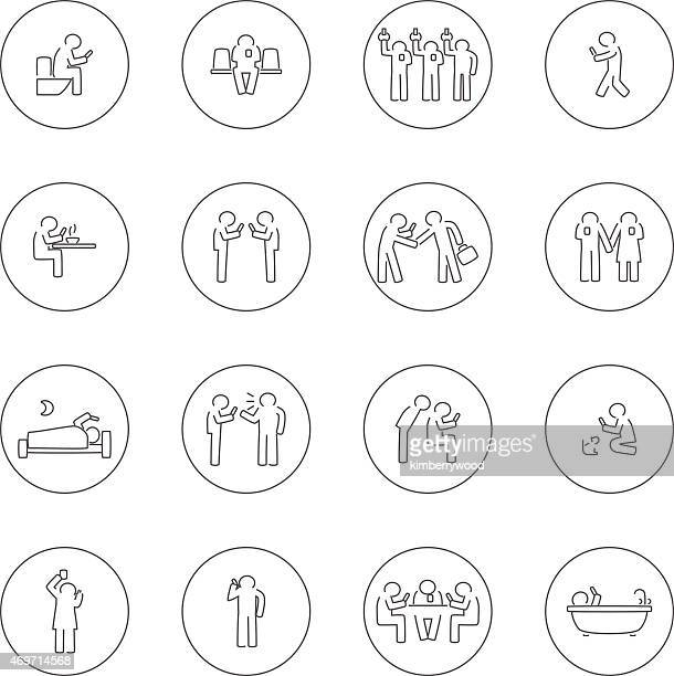 addict mobile - bathroom stock illustrations, clip art, cartoons, & icons