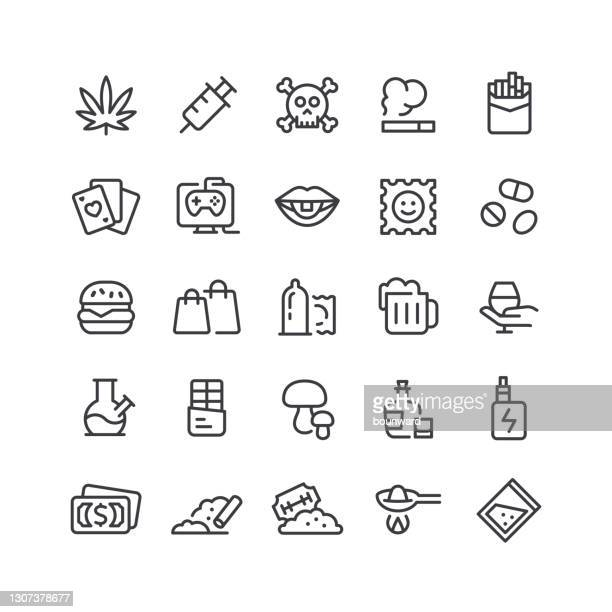 中毒ラインアイコン編集可能なストローク - 麻点のイラスト素材/クリップアート素材/マンガ素材/アイコン素材