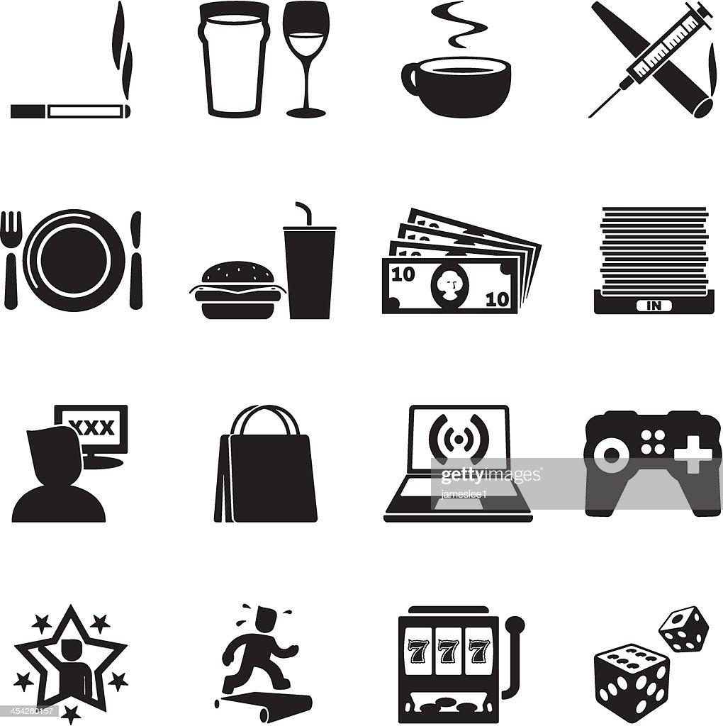 Addictions Icon Set