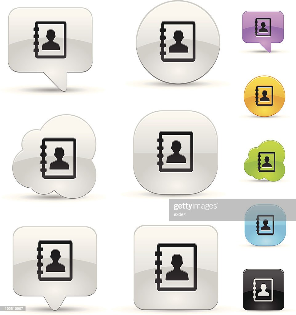 Address book icon set