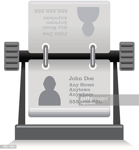 address book icon - rolodex stock illustrations, clip art, cartoons, & icons