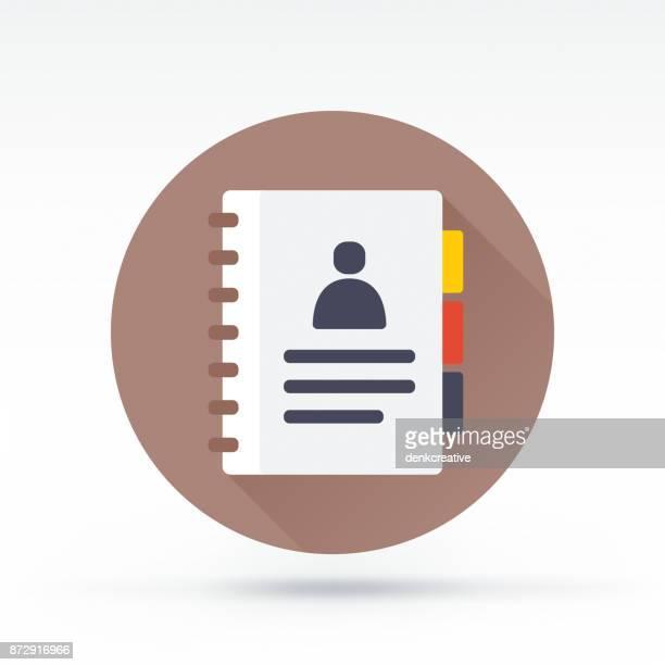 アドレス帳(address book )アイコン - インデックスカード点のイラスト素材/クリップアート素材/マンガ素材/アイコン素材