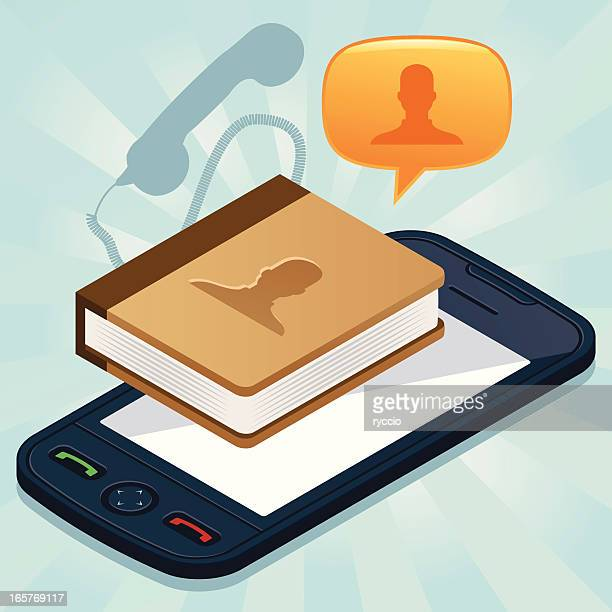 Address book on mobile phone