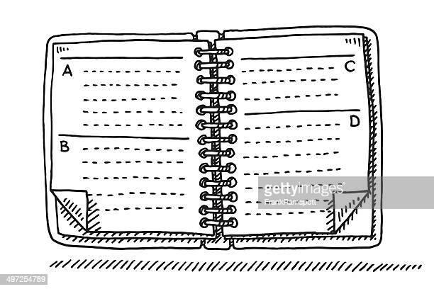 Address Ring Book Drawing