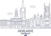 Adelaide City Skyline, Australia