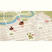 Adelaide, SA, Australia Map