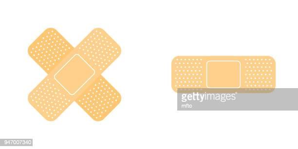 Adhesive bandage icon set