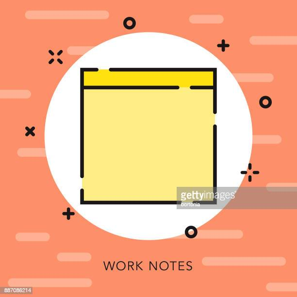 adhesive note open outline music & entertainment icon - post it stock illustrations, clip art, cartoons, & icons