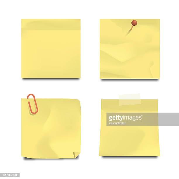 60点の付箋紙のイラスト素材クリップアート素材マンガ素材アイコン