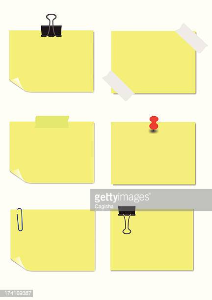 adhesive notes - paper clip stock illustrations, clip art, cartoons, & icons