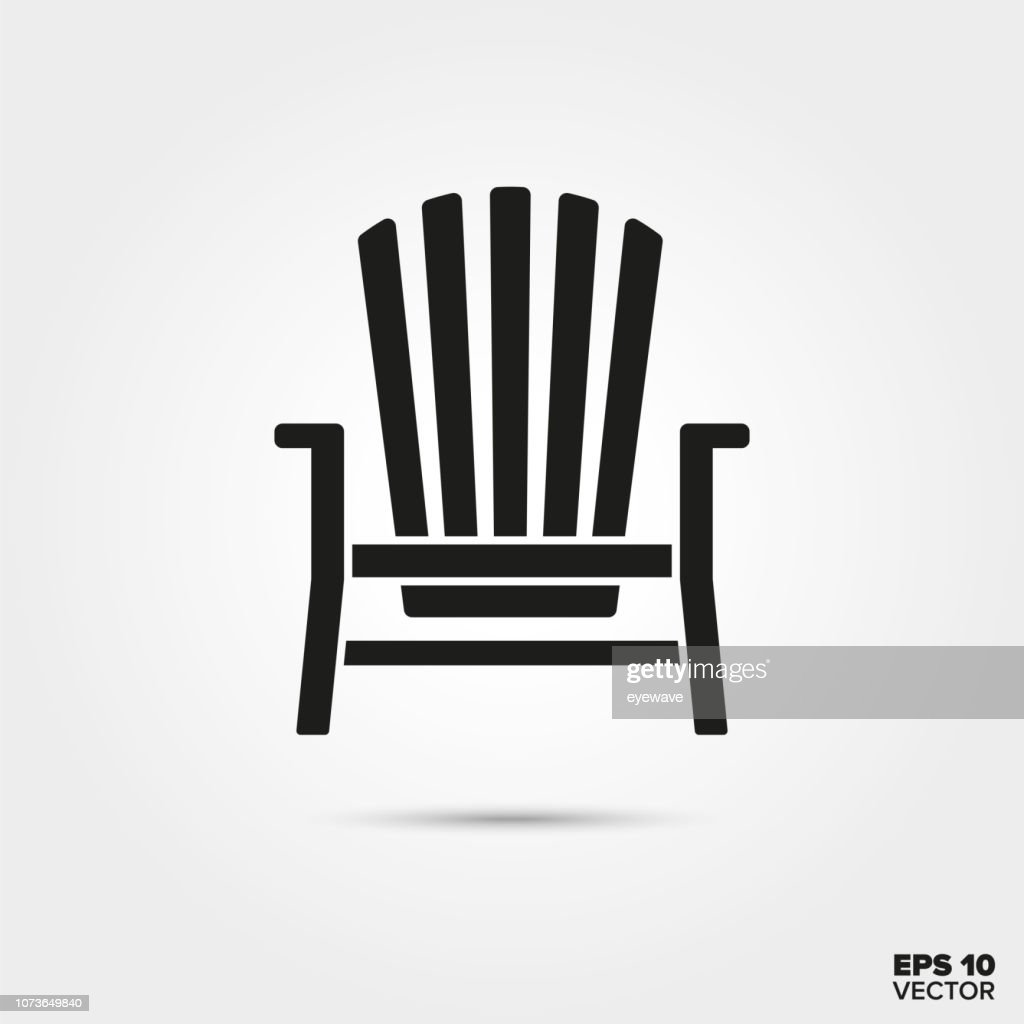 Adirondack chair vector icon