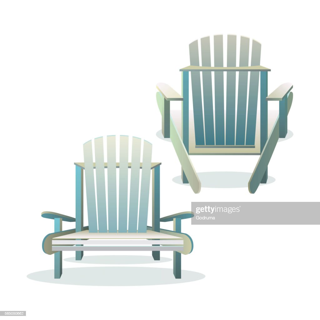 Adirondack wooden chair front and back