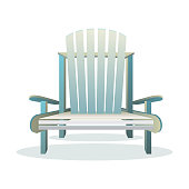 Adirondack wooden chair front