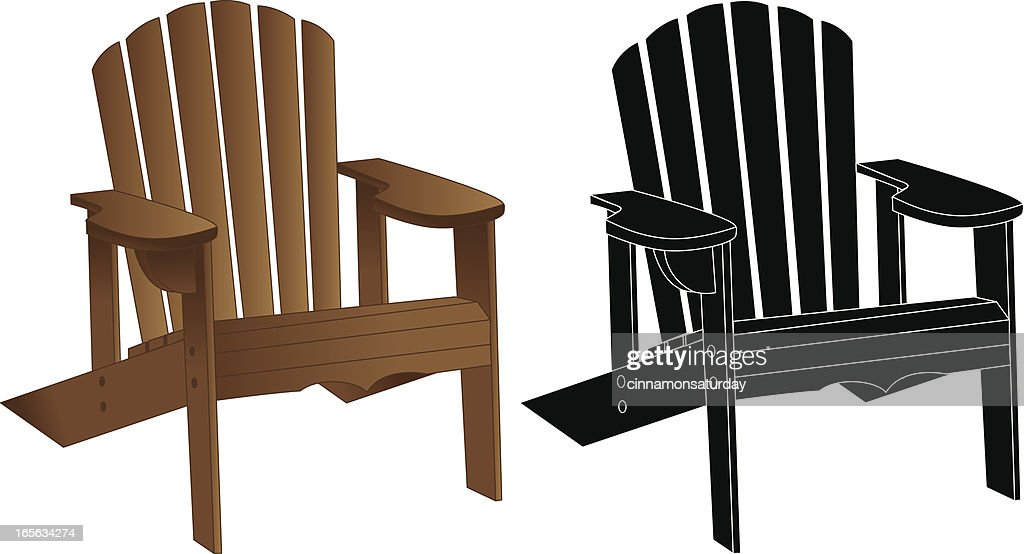 World\'s Best Adirondack Chair Stock Illustrations - Getty Images