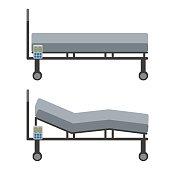 Adjustable Bed, vector illustration