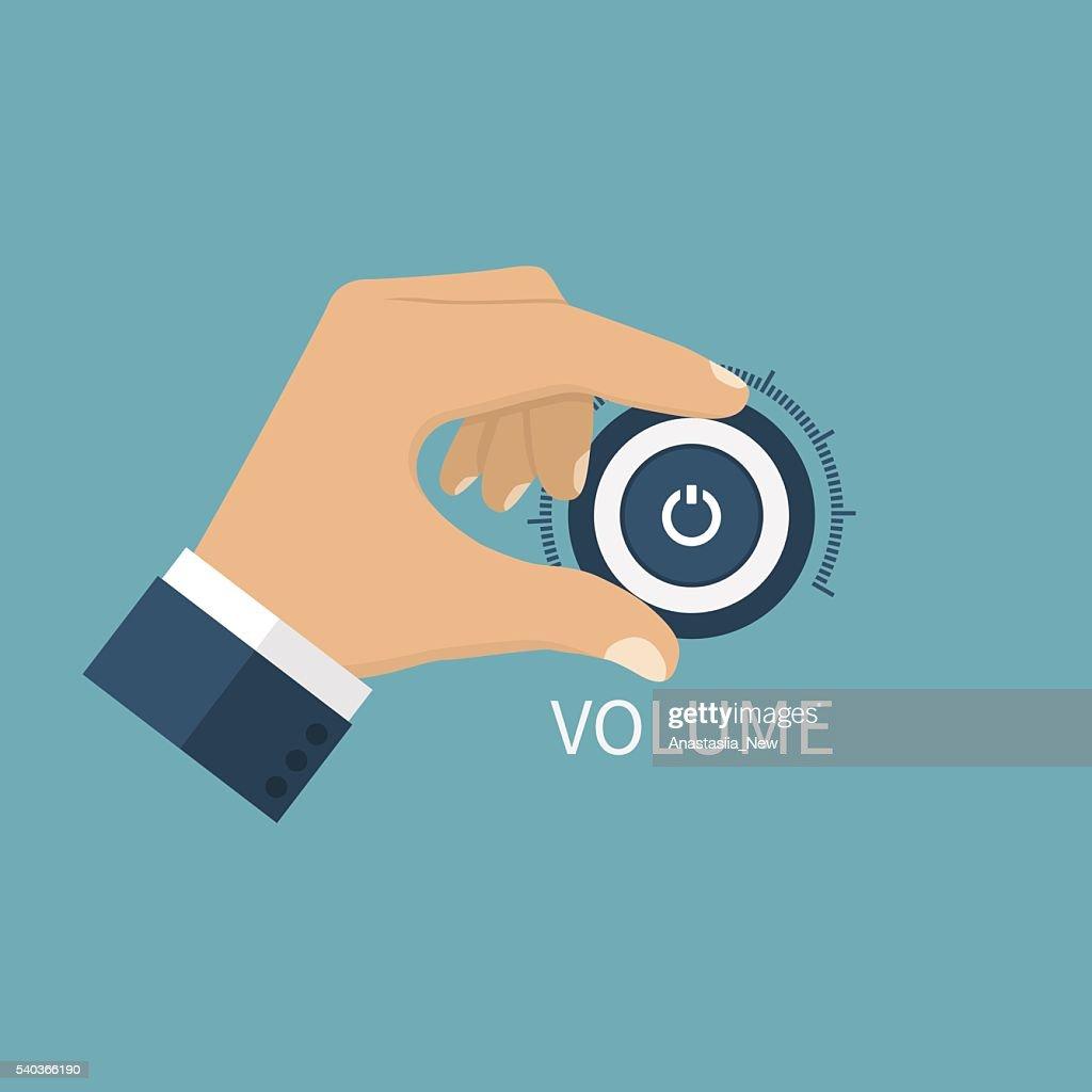 Adjusting volume. Control volume knob