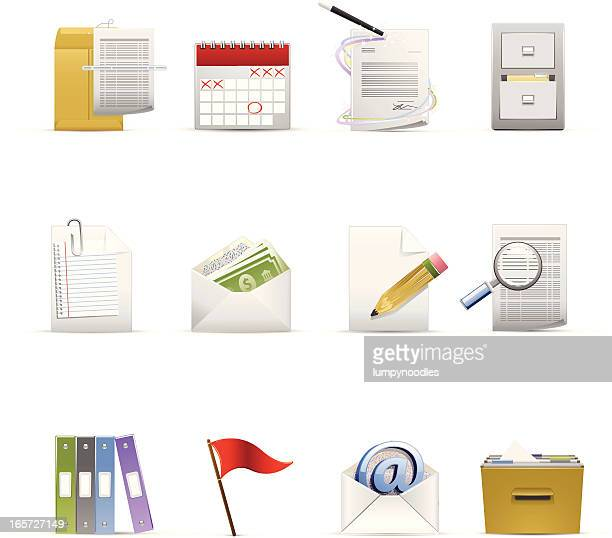 administrative icons - paycheck stock illustrations, clip art, cartoons, & icons