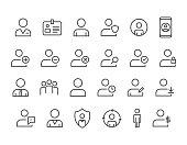 Administrator icon User icon Profile icon Editable Stroke.48x48 Pixel Perfect.