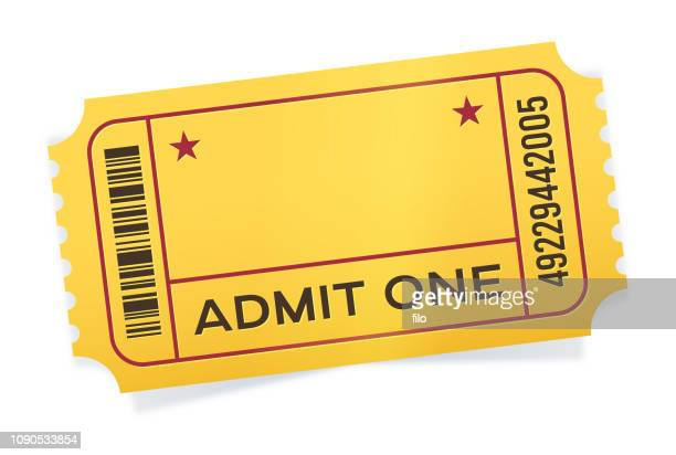 admit one event ticket - ticket stock illustrations, clip art, cartoons, & icons