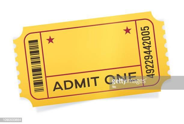 admit one event ticket - raffle stock illustrations