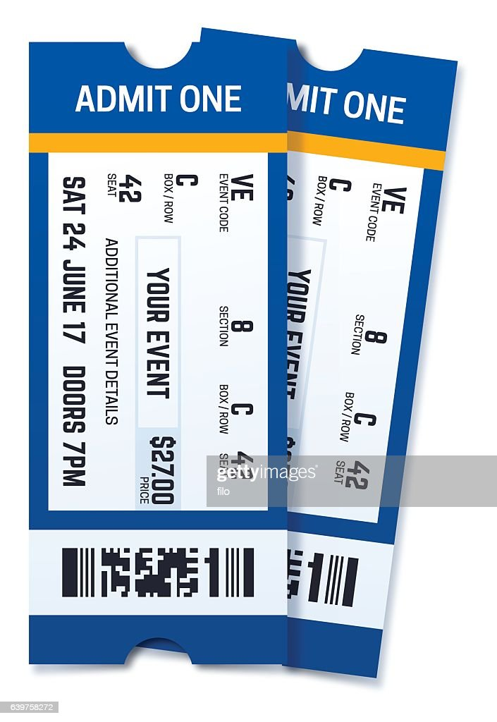 Admit One Two Event Tickets