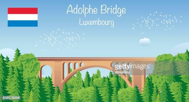 アドルフ橋ルクセンブルク - ルクセンブルク点のイラスト素材/クリップアート素材/マンガ素材/アイコン素材