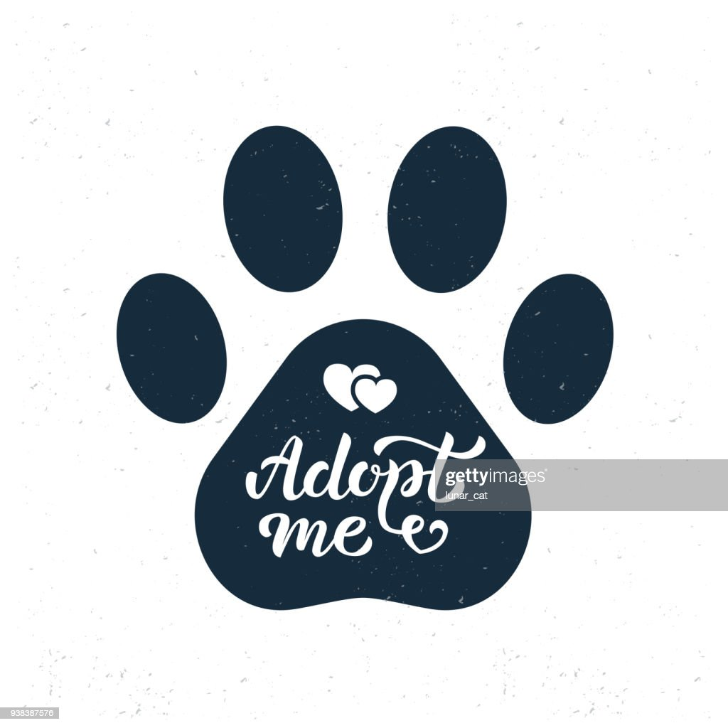 Adopt me hand lettering