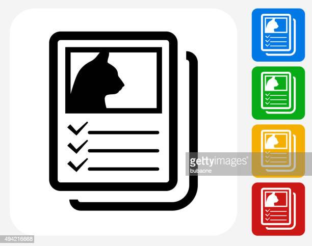 Adoption Papers Icon Flat Graphic Design