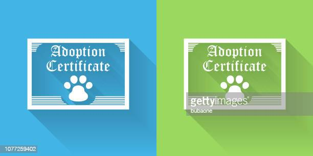 Adoption Papers Icon with Long Shadow