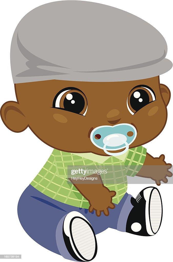 adorable black baby boy vector art getty images black baby clipart black baby clip art free