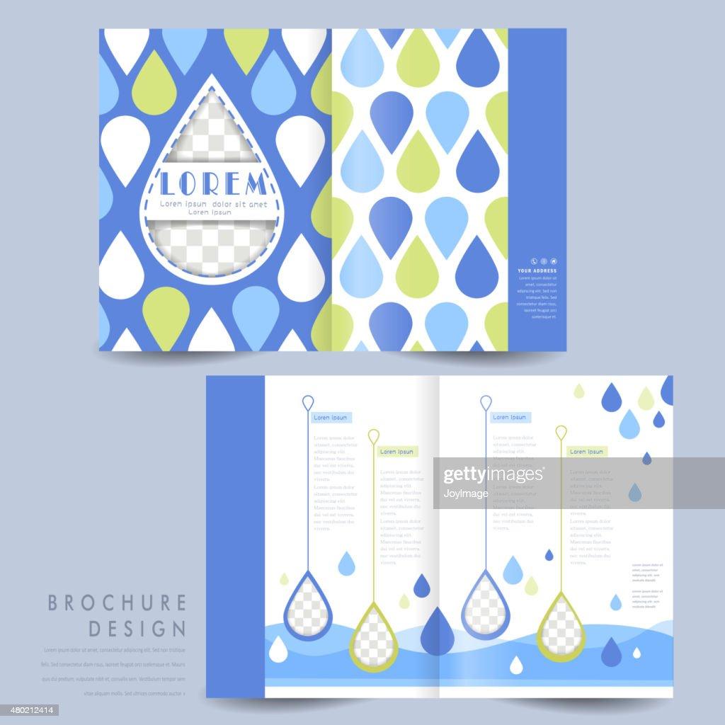 adorable half-fold brochure template design