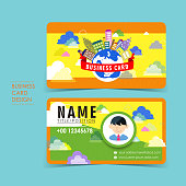 adorable vector business card set