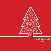 Adstrat Christmas Tree and Snowflakes - Illustration