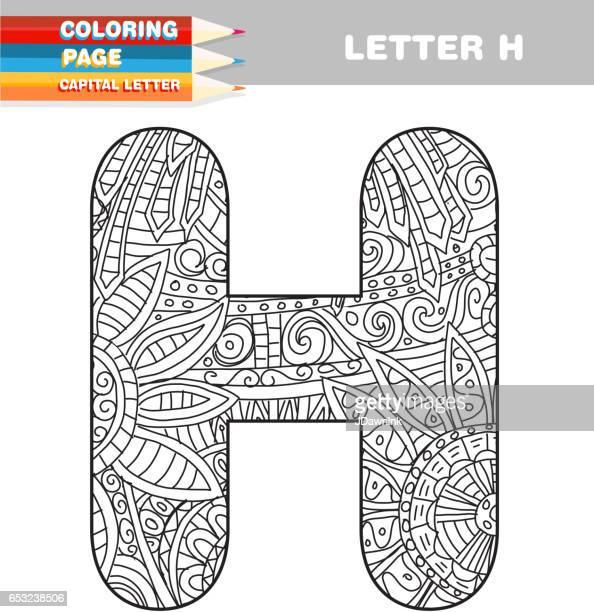 Erwachsenen Färbung Buch Großbuchstaben hand gezeichneten Vorlage