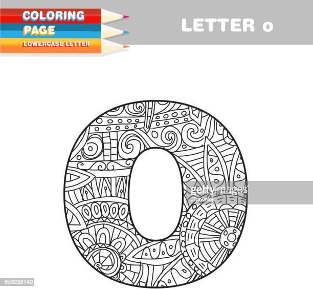 Erwachsenen Färbung Buch Kleinbuchstaben hand gezeichneten Vorlage