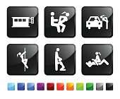 adult entertainment and prostitution royalty free vector icon set stickers