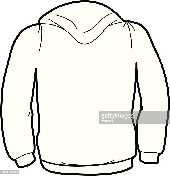 adult size sweatshirt back - hooded top stock illustrations