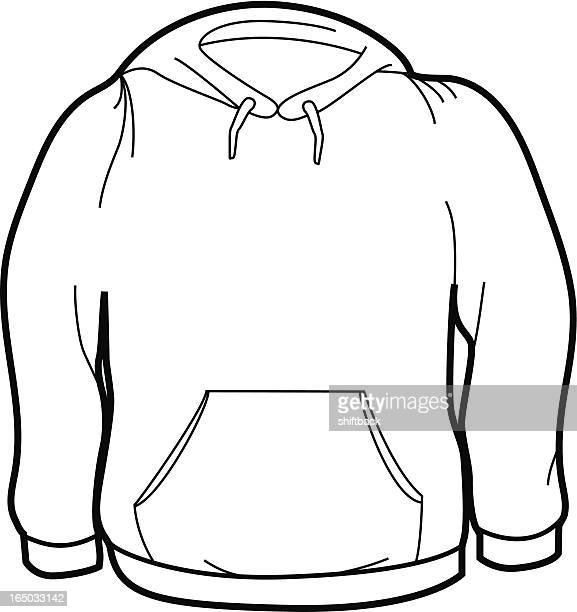 adult size sweatshirt - hooded top stock illustrations