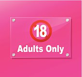 Adults only sign