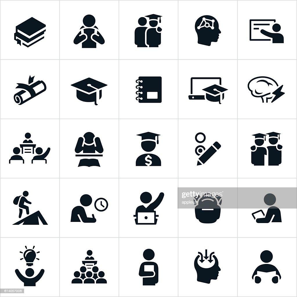 Advanced Education Icons : stock illustration