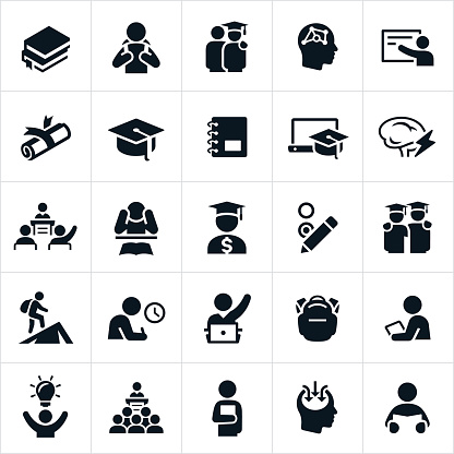 Advanced Education Icons - gettyimageskorea