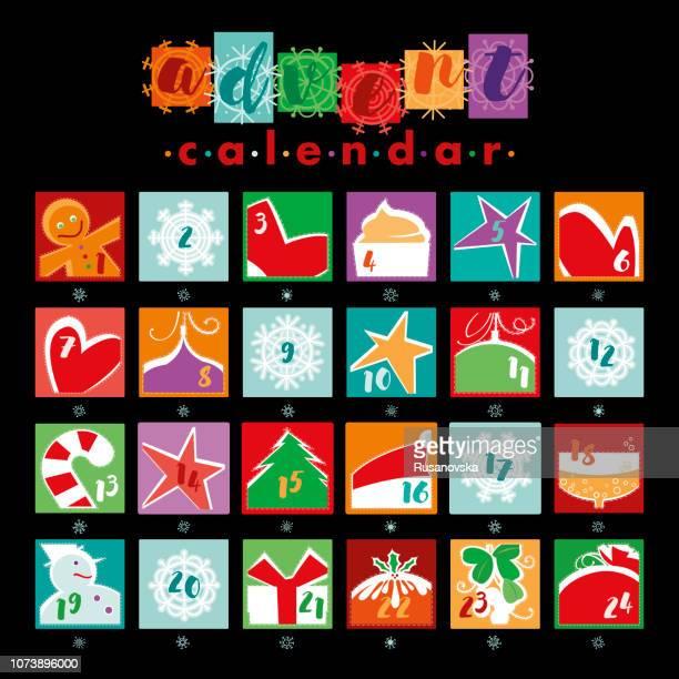 illustrations, cliparts, dessins animés et icônes de calendrier de l'avent - avent