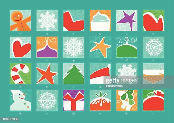 advent calendar - goodie bag stock illustrations, clip art, cartoons, & icons