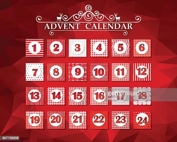 illustrazioni stock, clip art, cartoni animati e icone di tendenza di calendario dell'avvento - avvento
