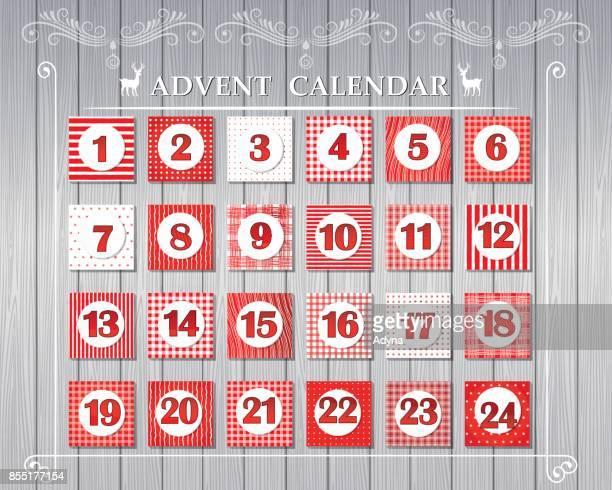 illustrazioni stock, clip art, cartoni animati e icone di tendenza di advent calendar - avvento
