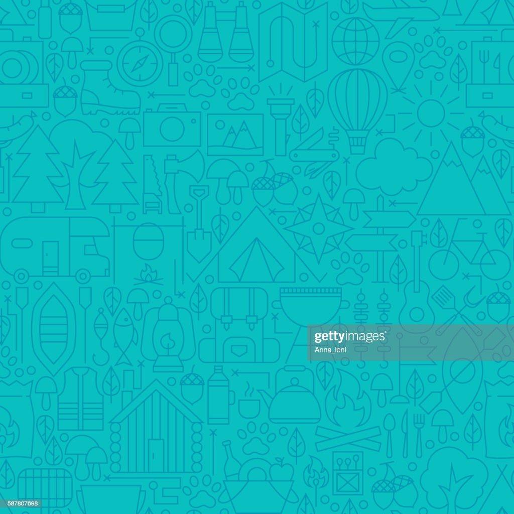 Adventure Camp Line Tile Pattern