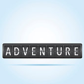 Adventure departure board