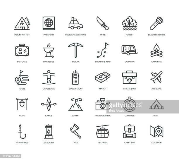 アドベンチャーアイコンセット - ガス燈点のイラスト素材/クリップアート素材/マンガ素材/アイコン素材