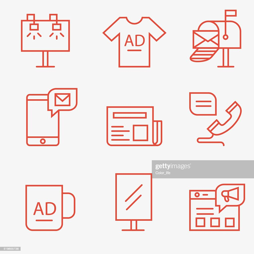 Advertisement and promotion icons